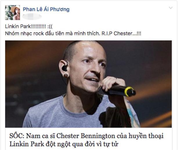 Linkin Park - nhóm nhạc rock đầu tiên Ái Phương hâm mộ.