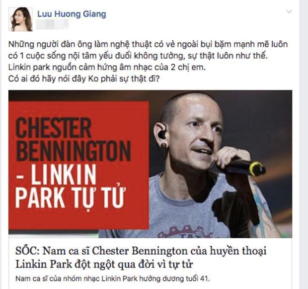 Lưu Hương Giang tiết lộ Linkin Park chính là nguồn cảm hứng âm nhạc cho hai chị em cô.