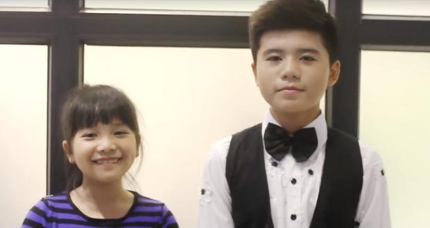 Hà Mi và Minh Khang trong clip cover Cô gái ngày hôm qua.