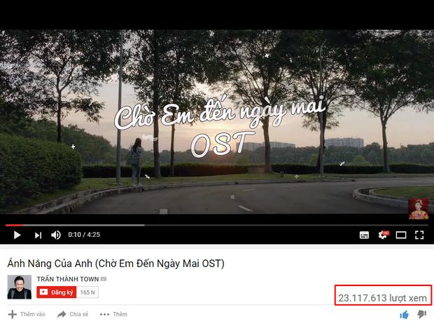 Bản OST chính thức do Đức Phúc thể hiện vượt mốc 23 triệu lượt xem Youtube.