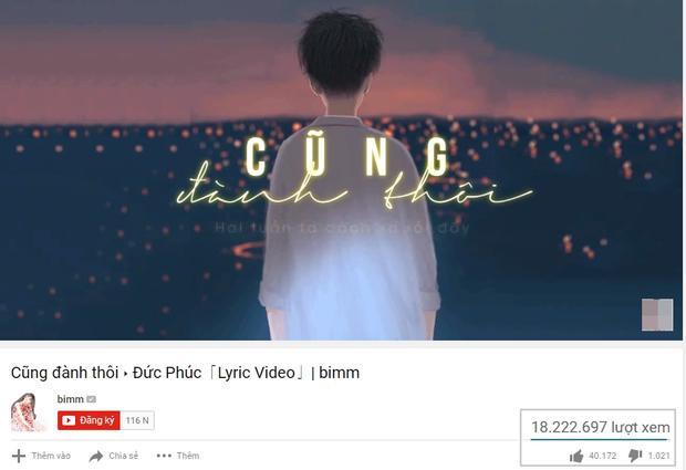 """MV Lyrics không chính thức của ca khúc đạt số view """"khủng"""" (Nguồn: Bimm)."""