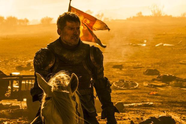 Jaime Lannister đối đầu với rồng lửa.
