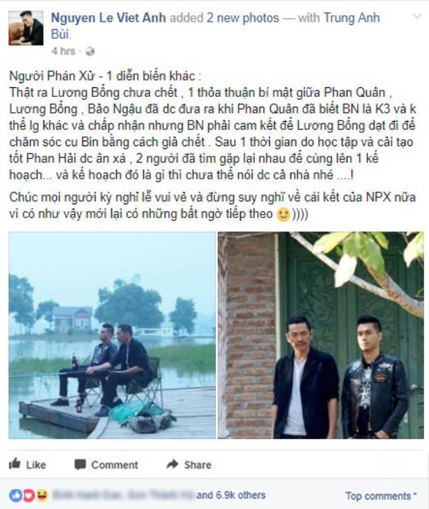 Thông tin chia sẻ của Việt Anh.