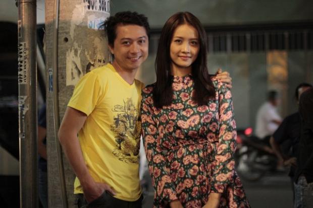 Trương Mỹ Nhân và diễn viên Hứa Minh Đạt trong phim.