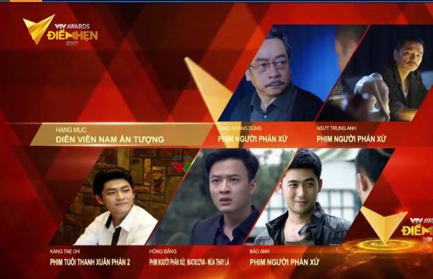 5 đề cử của Nam diễn viên ấn tượng.