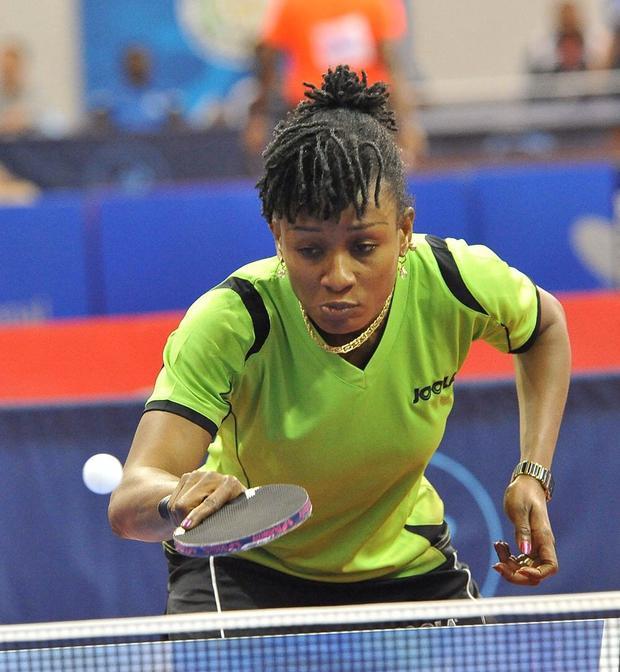 Olufunke thi đấu và giành 4 HCV tại Đại hội thể thao châu Phi 2003, khi đang mang bầu 7 tháng tuổi.