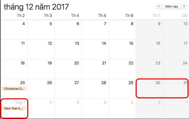 Người lao động sẽ được nghỉ 2 ngày cuối cùng của năm cũ và ngày đầu tiên của năm mới.