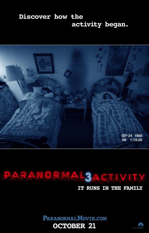 Paranormal Activity 3 giữ kỷ lục dành chophim kinh dị hạng R có doanh thu mở màn cao nhất với 52,5 triệu USD.