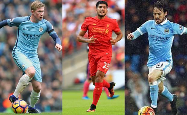 Đội hình bá đạo kết hợp giữa Man City và Liverpool