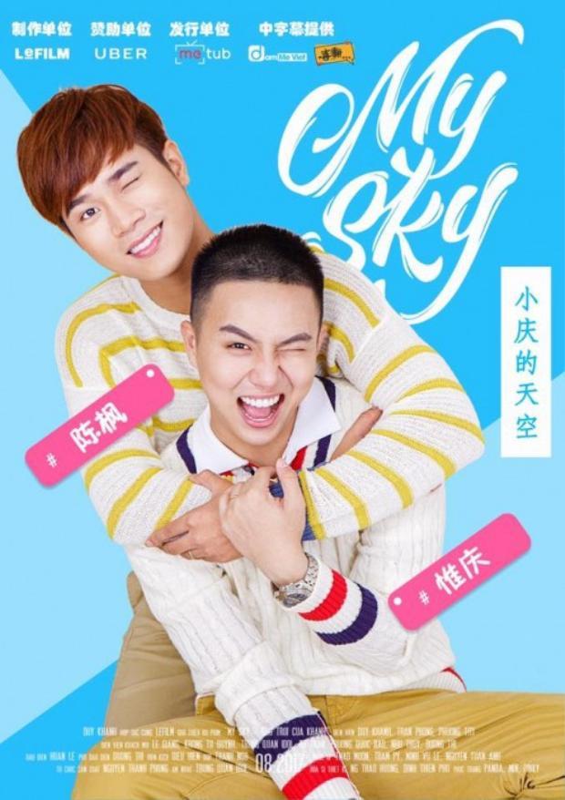Poster được fan làm lại thành bản tiếng Trung.