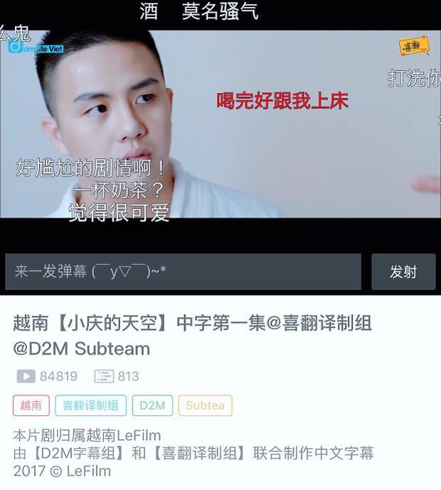 Nhiều kênh video ở xứ Trung đã đăng tải lại để giới trẻ Trung Quốc tiện theo dõi phim.