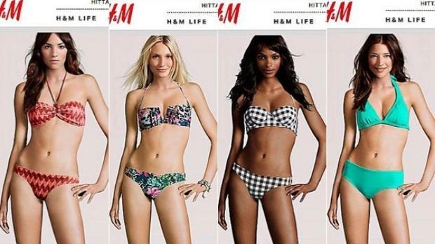 """Những """"người mẫu công nghệ"""" mà H&M đã sử dụng để quảng cáo cho sản phẩm của mình."""