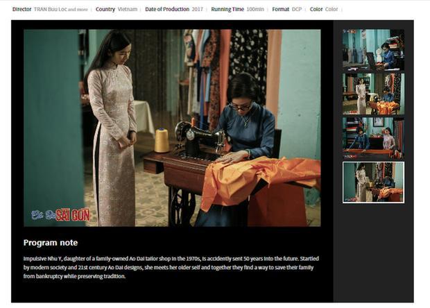 Thông tin phim Cô Ba Sài Gòn trên website chính thức của LHP Busan 2017.
