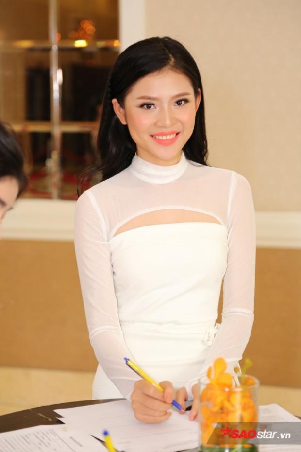 Chúng Huyền Thanh tại sơ khảo Hoa hậu Hoàn vũ Việt Nam vừa qua.