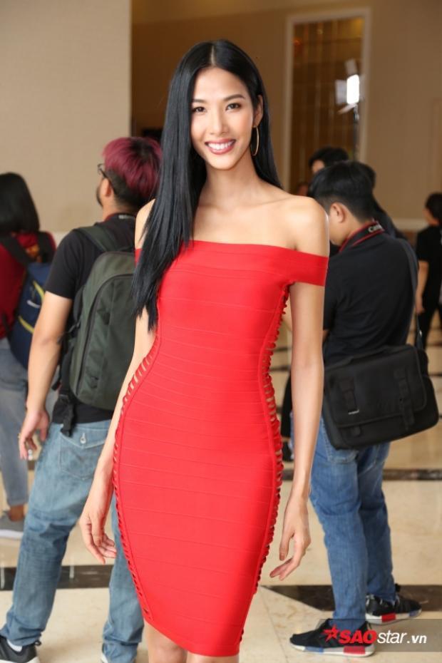 Hoàng Thuỳ tại sơ khảo Miss Universe Vietnam 2017 khu vực phía Nam.
