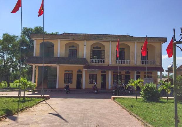 UBND xã Cẩm Trung, huyện Cẩm Xuyên (Hà Tĩnh), nơi ông Thành từng công tác. Ảnh: P.T.