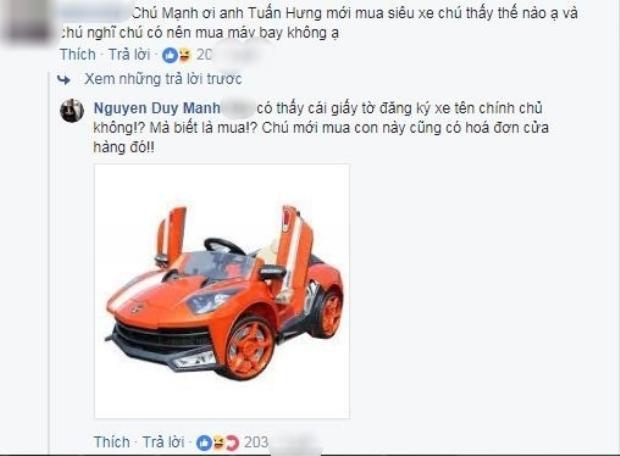 Duy Mạnh phản pháo thông tin 'đá xéo', mỉa mai Tuấn Hưng mua siêu xe chục tỷ