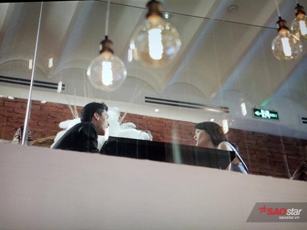 Huỳnh Anh - Hạ Vi bị bắt gặp đang dùng bữa tại một nhà hàng sang trọng.