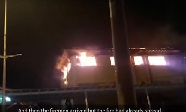 Hình ảnh khi xảy ra vụ cháy.