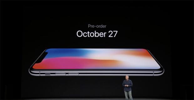 Thời gian đặt hàng trước dành cho iPhone X là 27/10.