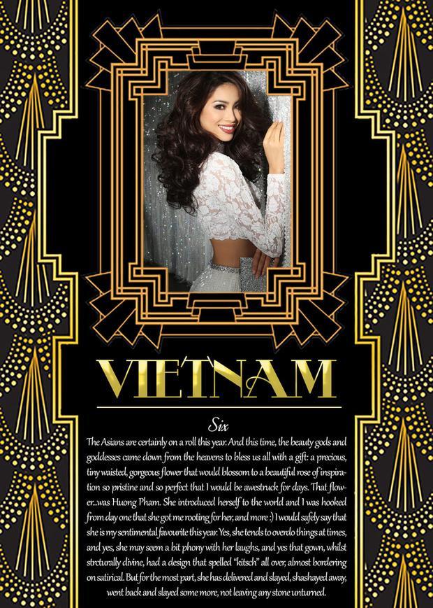 Phạm Hương - đại diện đẹp bậc nhất châu Á tại đấu trường Hoa hậu Hoàn vũ Thế giới trong 15 năm trở lại đây.