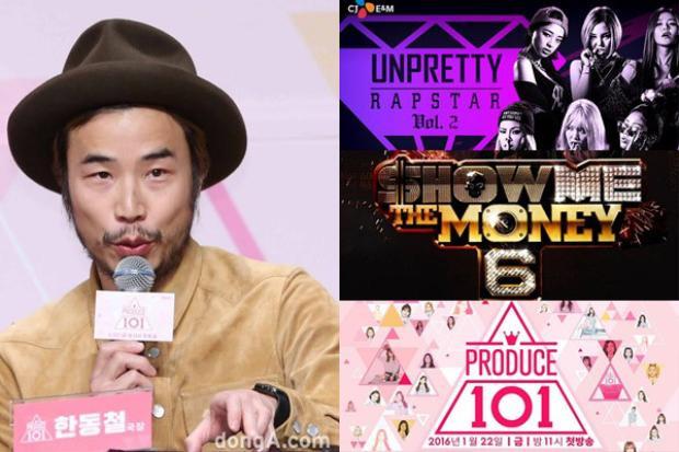 PD Han Dong Chul được xem là phù thủy của đài Mnet với hàng loạt show ăn khách.