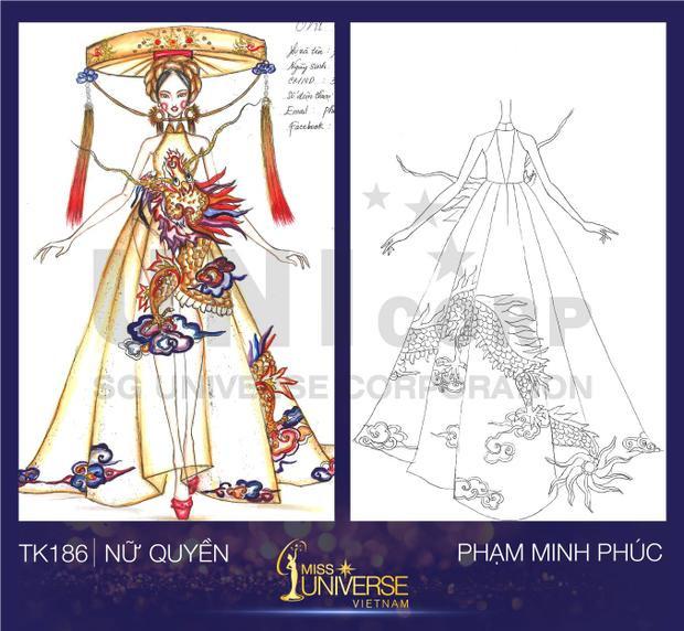 Tác phẩm mang tên Nữ quyền với hình ảnh đặc trưng như con rồng, nón quai thao của Phạm Minh Phúc.