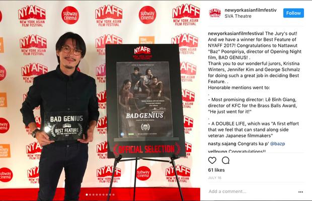 Đạo diễn cùng bộ phim của mình đã thắng giải Best Feature tạiNew York Asian Film Festival.