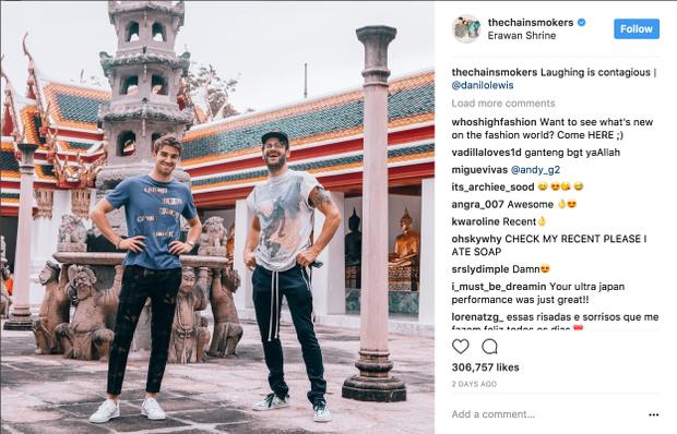 Alex và Andrew cũng đã tranh thủ thăm quan một số điểm đến đáng chú ý tại Bangkok.