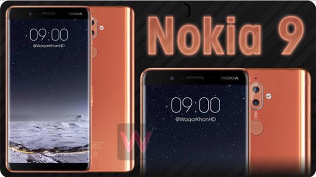 Những thiết kế của Nokia 9 có nét tương đồng nhưng cũng khác biệt với Nokia 8.