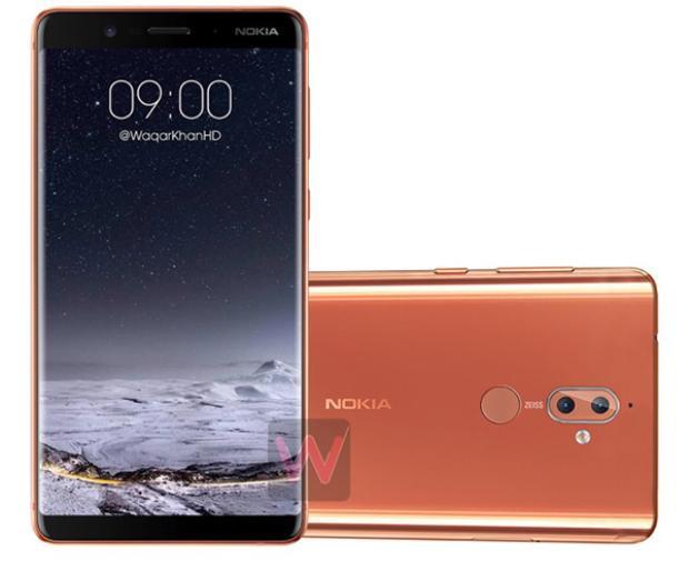Nokia 9 sở hữu màn hình tràn viền theo xu hướng chuẩn tương lai như Galaxy Note 8 và iPhone X.