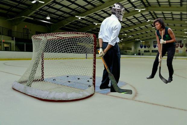 """Ngoài đời là vợ chồng hạnh phúc, còn trên sân Hockey lại là đối thủ """"không đội trời chung"""" đấy nhé."""