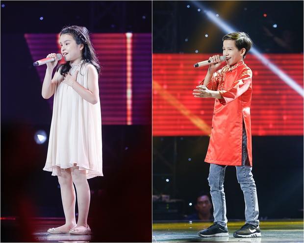 Hồng Thư và Hữu Lâm gây ấn tượng tại The Voice Kids 2017.