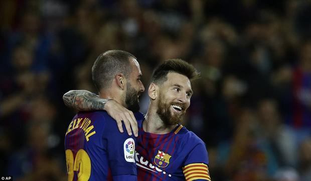 Ngôi sao người Argentina đã tìm lại nụ cười sau 1 trận tịt ngòi.