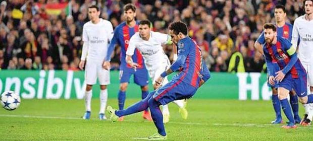 Neymar không phải chuyên gia đá phạt ở Barca.
