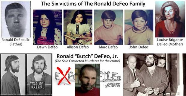 Những nạn nhân trong gia đình do Ron sát hại.