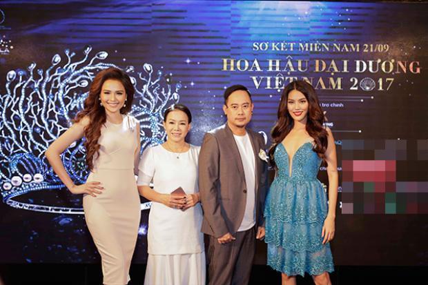 Đại diện các thành viên ban giám khảo vòng sơ khảo phía Nam Hoa hậu Đại dương Việt Nam 2017.