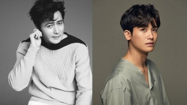 Hai nam diễn viên chính trong phiên bản Hàn Quốc.