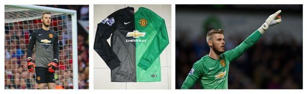 Hai áo thi đấu của De Gea trong mùa giải 2014/2015. Hai chiếc áo này Trung phải nhờ người quen mua tại Indonesia.