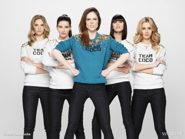Team Coco Rocha The Face US mùa 1.