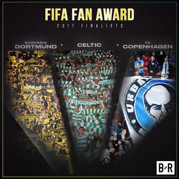 Danh hiệu CĐV của năm sẽ được trao cho 1 trong 3 hội CĐV: Dortmund, Celtic hoặc Copenhagen.