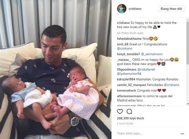 Biểu cảm đáng yêu của cặp song sinh nhà Cristiano Ronaldo