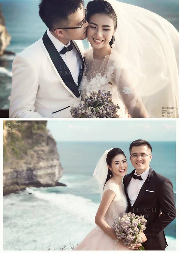 Hình ảnh cưới của Ngọc Hân được hé lộ với mọi người.
