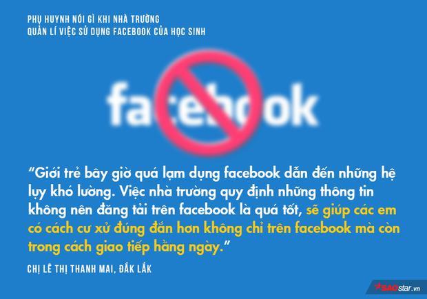 Phụ huynh nói gì khi nhà trường quản lí việc sử dụng Facebook của học sinh?