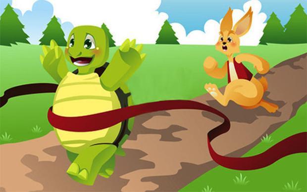 Thỏ nổi tiếng về chạy nhưng lại thua Rùa.