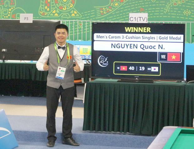 Nguyễn Quốc Nguyện giành HCV. Ảnh: Doãn Hữu Bình.