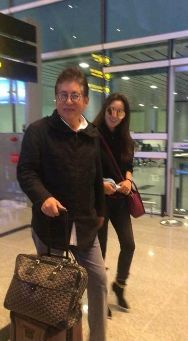 Kim Hee Sun và nam diễn viên Kim Yong Gun. (Ảnh: Ngọc Anh/ Fanpage FC Kim Hee Sun VN).