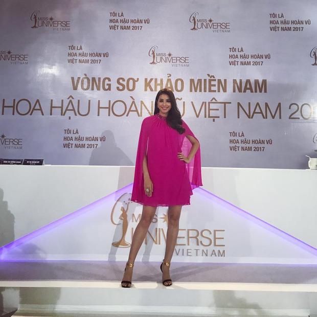 """Xuất hiện vô cùng nổi bật tại vòng sơ khảo phía Nam Miss Universe Vietnam 2017, Phạm Hương """"đánh bật"""" mọi người đẹp xung quanh."""