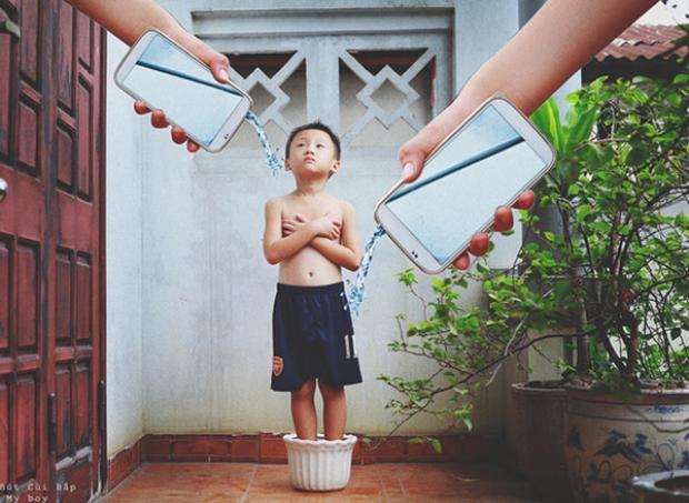 Hình ảnh trong bộ Những Đứa Trẻ Công Nghệ từng gây tiếng vang trên báo chí của Đỗ Xuân Bút.