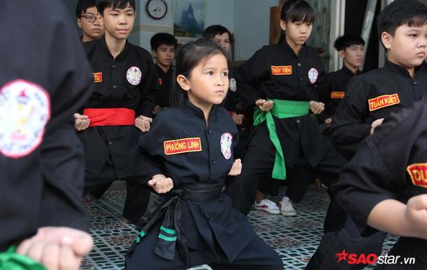 Trong số khoảng 20 võ sinh đang miệt mài luyện võ tại võ đường Nội gia Hải Quyền (Hóc Môn), nổi bật một cô bé nhỏ nhắn nhất. Khuôn mặt xinh xắn tựa thiên thần với đôi mắt lúc nào chăm chú hướng về sư phụ. Cô bé ấy tên là Nguyễn Ngọc Phương Linh năm nay chỉ mới 7 tuổi .